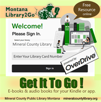 Download ebooks from Montana 2 Go Library Resource - Opens in New Window