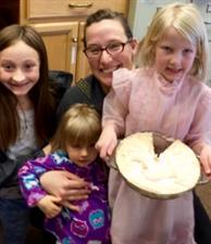 Brandy Elhert poses with her winning Key Lime Pie and Family!